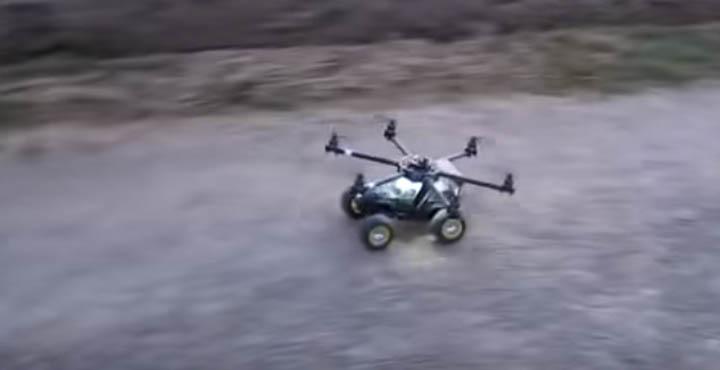 Создавай – Играючи. Машина и Гексакоптер в одном флаконе (Wheeling and Flying Hexa)